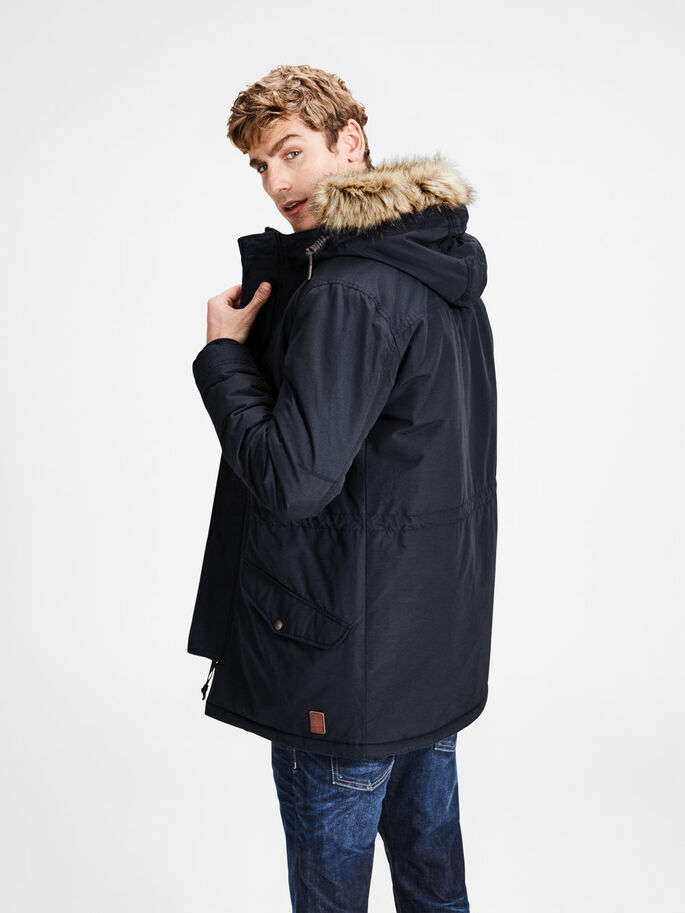 HEAVY-DUTY PARKA COAT, Dark Navy, large