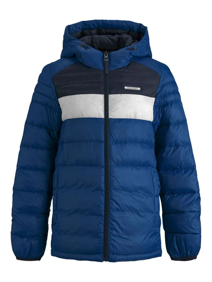 BOYS HOODED PUFFER JACKET, Classic Blue, large