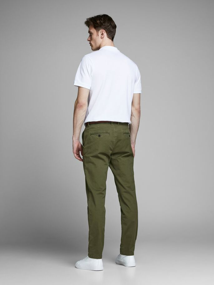 CODY SPENCER WW CHINOS, Olive Night, large