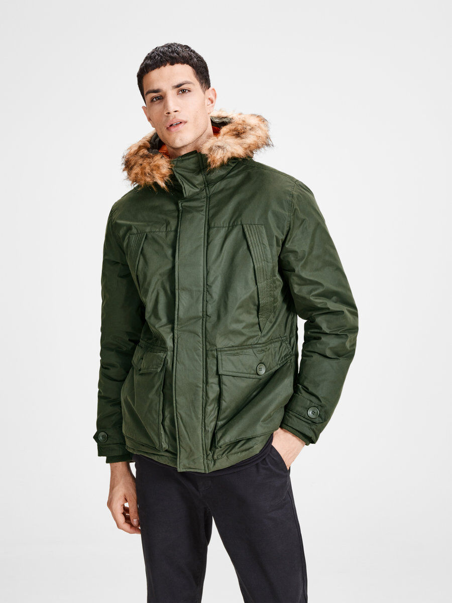 Nylon parka coat jack and jones espana
