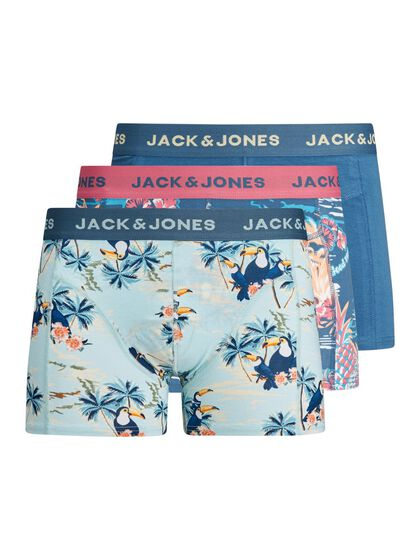 BOYS 3-PACK TROPICAL PRINT TRUNKS