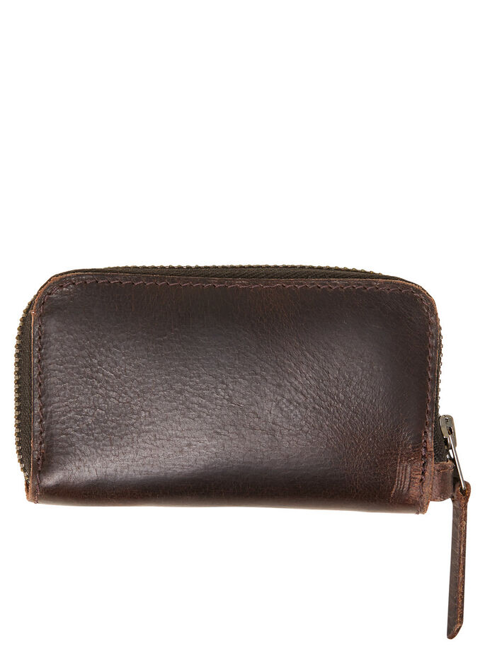 LEATHER WALLET, Dark Earth, large