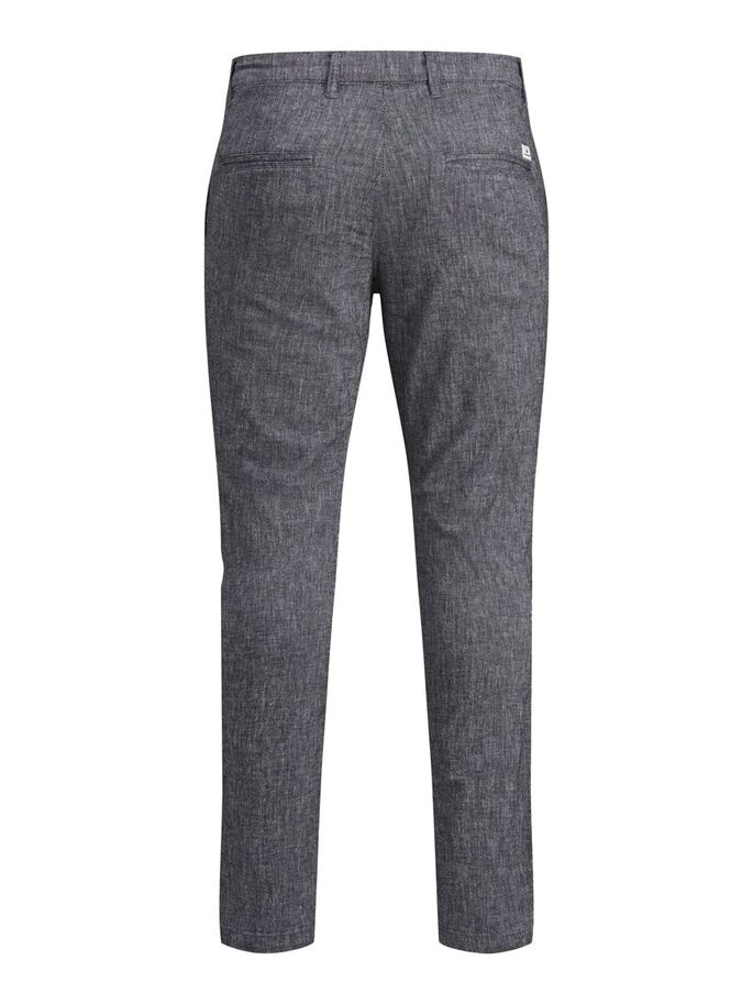 MARCO DAVE LINEN CHINOS, Black, large