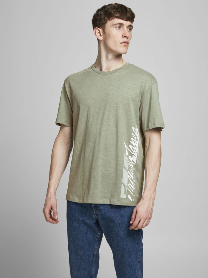 RELAXED FIT PRINT T-SHIRT, Sea Spray, large