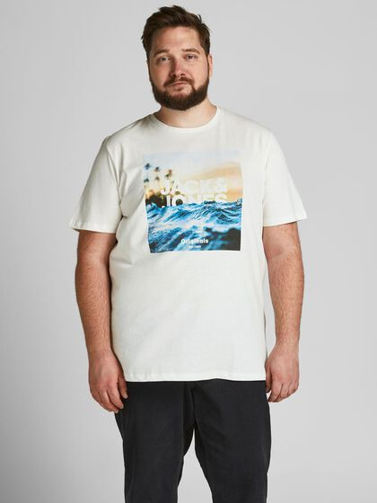 PHOTO PRINTED PLUS SIZE T-SHIRT