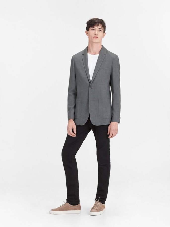 LAPPELOMMER BLAZER, Dark Grey, large