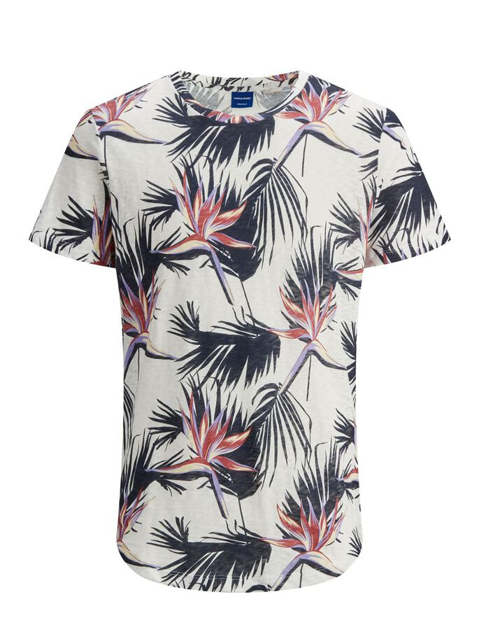 REGULAR FIT BOTANICAL PRINT T-SHIRT, Cloud Dancer, large
