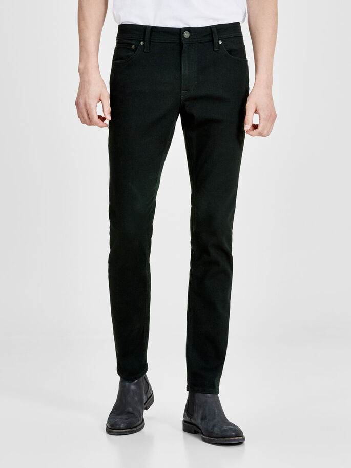 LIAM ORIGINAL AM 692 SKINNY FIT -FARKUT, Black Denim, large