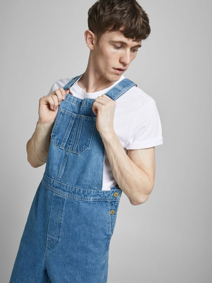 CHRIS AM 256 DUNGAREES, Blue Denim, large