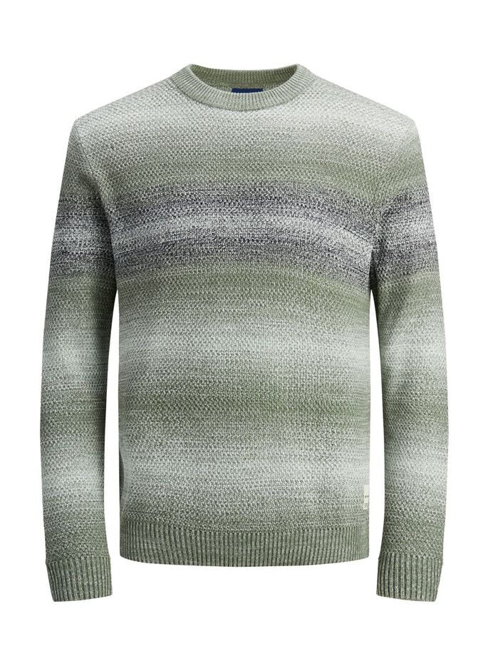GRADIENT TEXTURED KNITTED JUMPER, Sea Spray, large