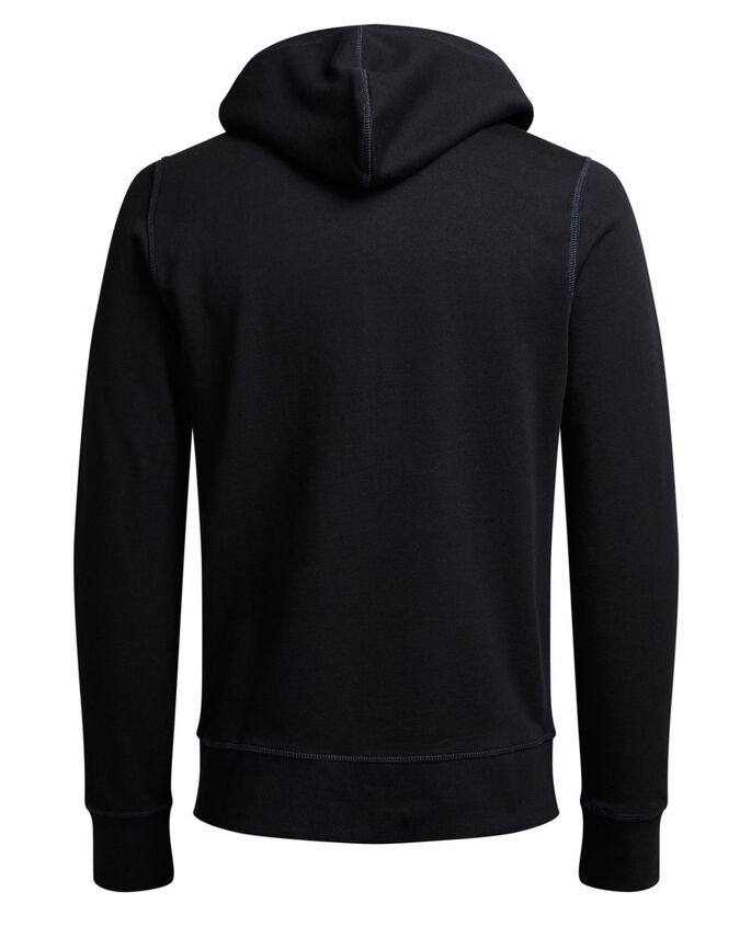 CASUAL SWEATSHIRT MED GLIDELÅS, Black, large