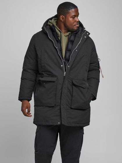 HOODED PLUS SIZE PARKA