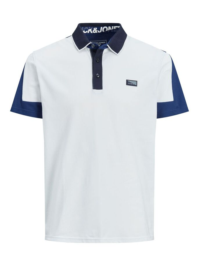 SPORTY REGULAR FIT POLO SHIRT, White, large