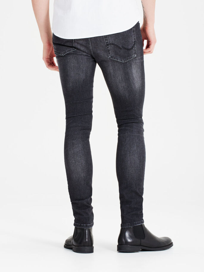 LIAM ORIGINAL JJ 989 JEANS SKINNY FIT, Black Denim, large