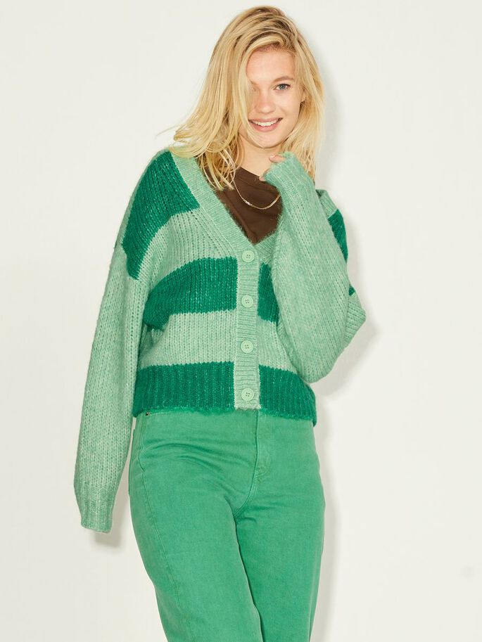 JXBONNIE KNITTED CARDIGAN, Absinthe Green, large