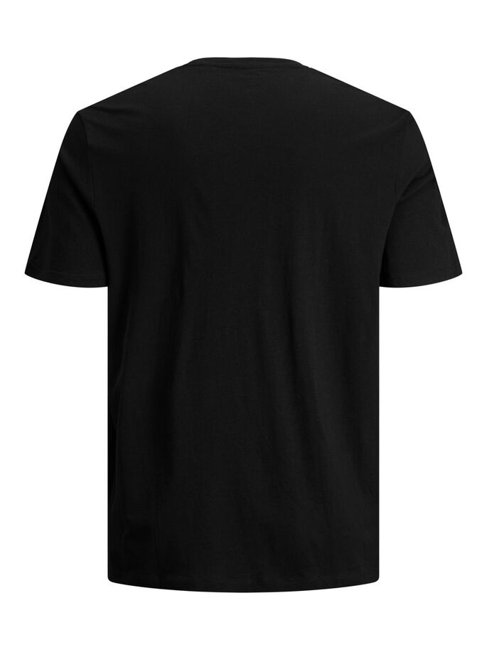 LOGO PLUS SIZE T-SHIRT, Black, large