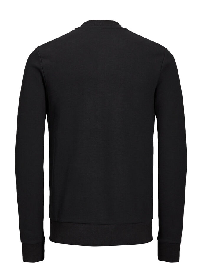 BASEBALL FERMETURE ÉCLAIR SWEAT ZIPPÉ, Black, large
