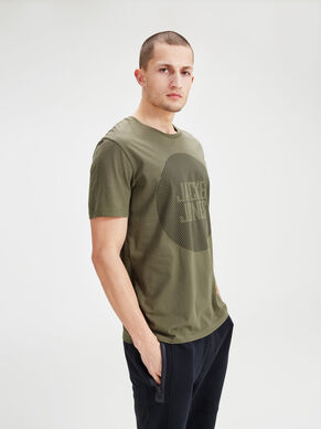 STAMPATA CON REGULAR FIT T-SHIRT