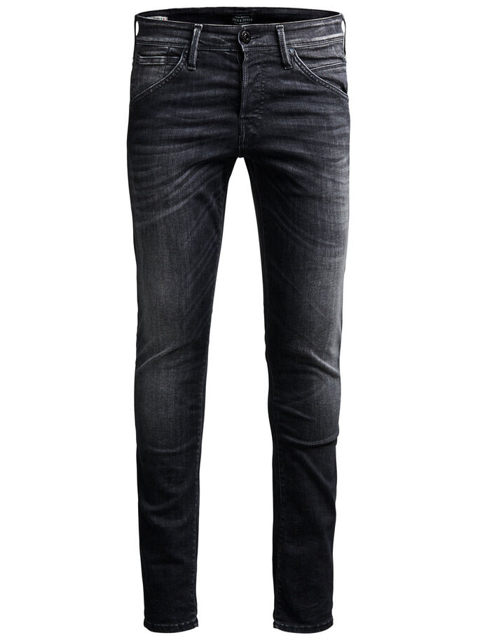 GLENN FOX BL 655 SPS JEANS SLIM FIT, Black Denim, large