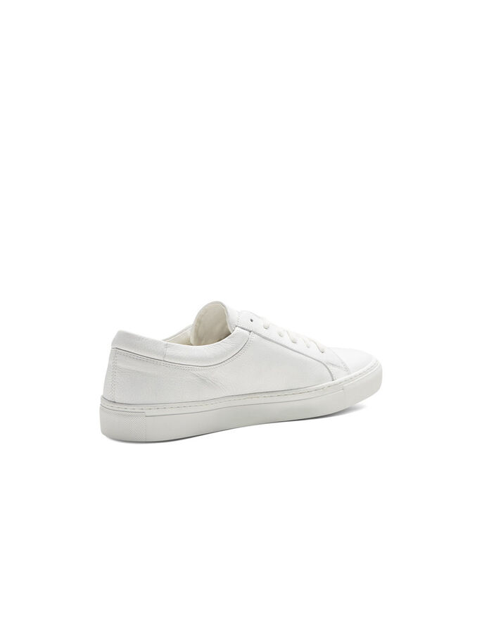 LÆDER SNEAKERS, Bright White, large