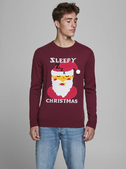 CHRISTMAS JACQUARD KNITTED PULLOVER
