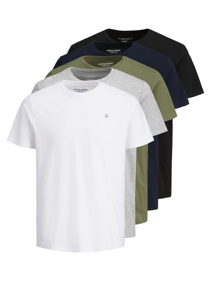 5-PACK T-SHIRT, White, large