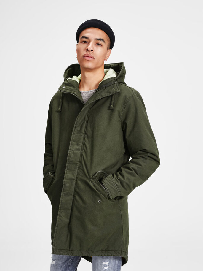 CHAUDE PARKA, Forest Night, large