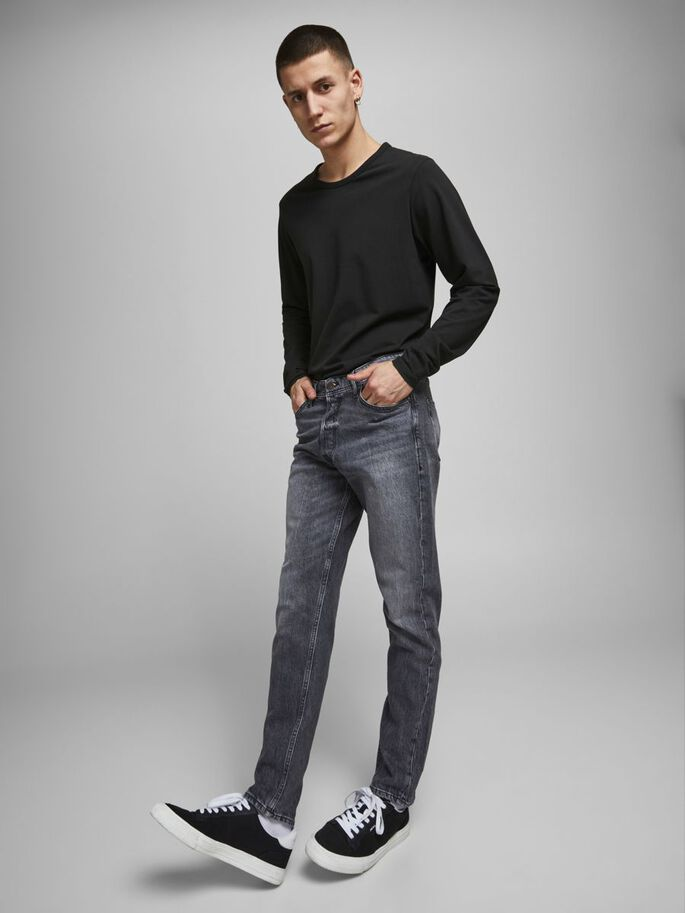 FRED ORIGINAL CJ 515 TAPERED FIT JEANS, Black Denim, large