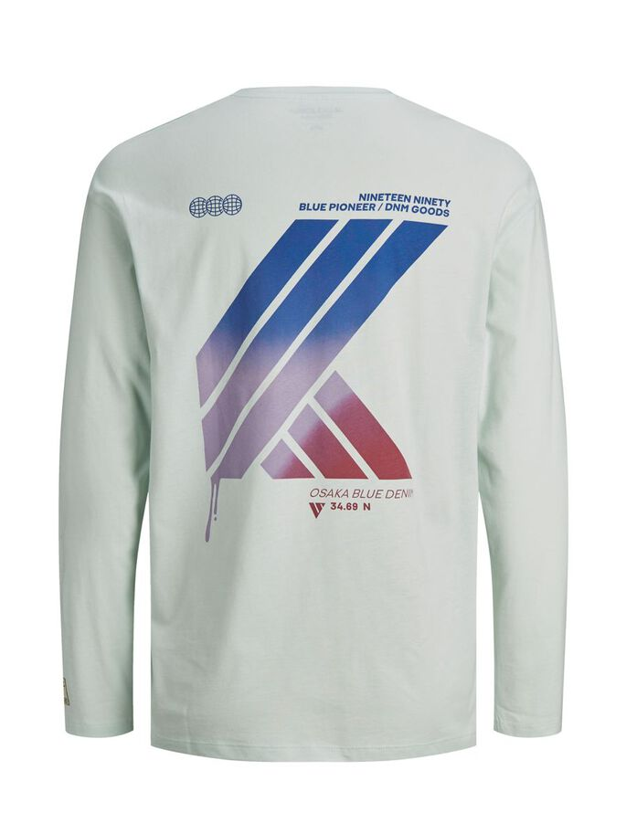 PRINTED LONG-SLEEVED T-SHIRT, Pale Blue, large
