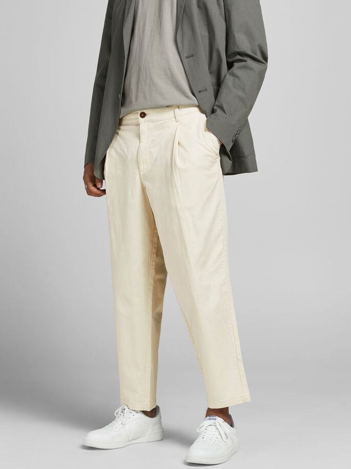 BILL RICO CROPPED HOSE, Ecru, large