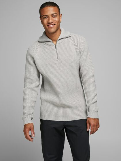 HALF ZIP KNITTED PULLOVER