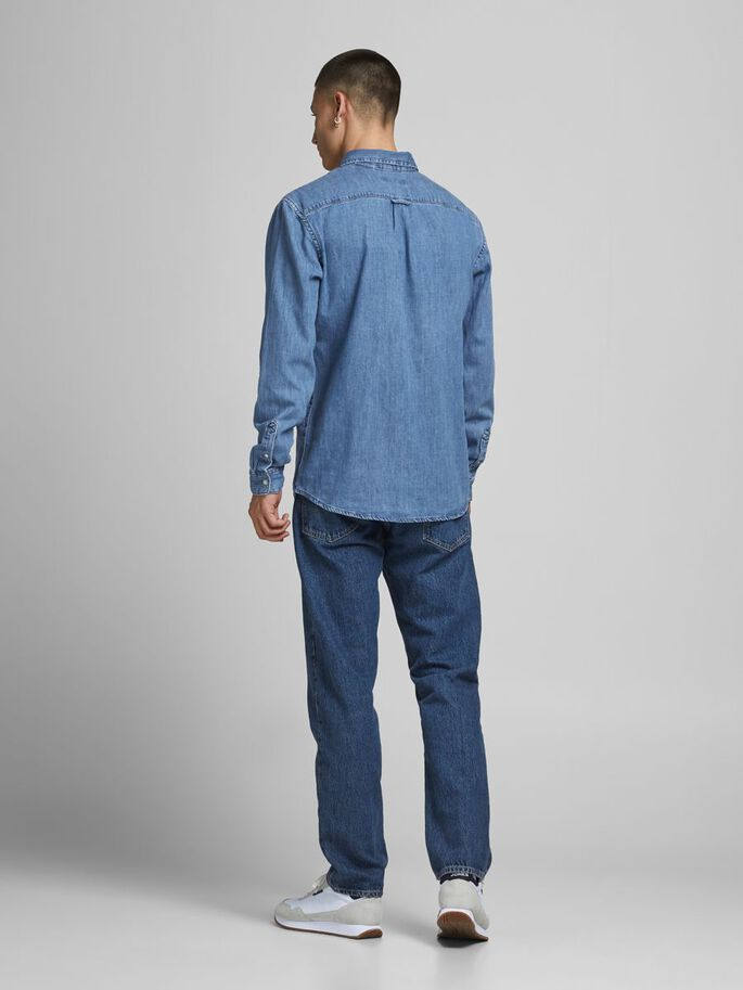 FELIX AKM 225 DENIM SHIRT, Blue Denim, large