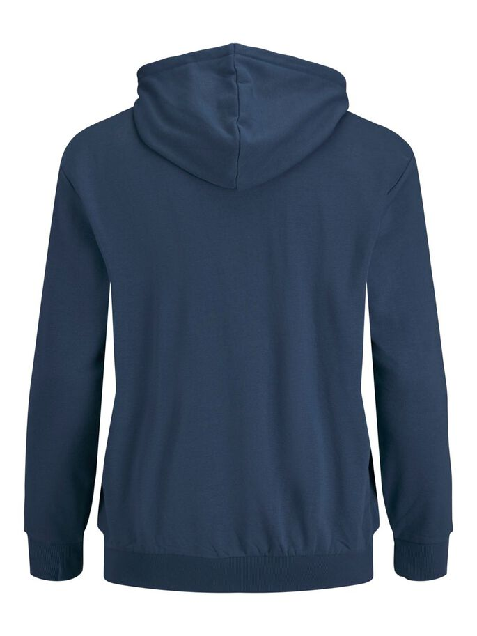TROPICAL PRINT PLUS SIZE HOODIE, Ensign Blue, large