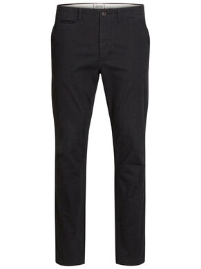 MARCO SVARTA SLIM FIT CHINOS