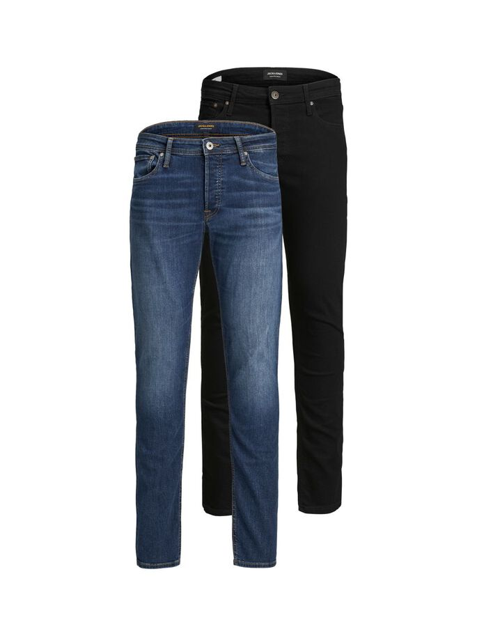 2-PACK GELNN ORIGINAL AM SLIM FIT JEANS, Black Denim, large