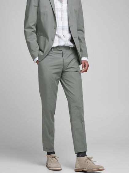 SUPER SLIM FIT LINNEN PANTALON