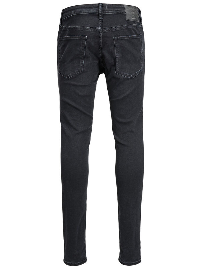 LIAM ORIGINAL AM 536 SKINNY FIT JEANS, Black Denim, large