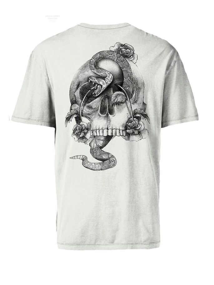 IMPRIMÉ TÊTE DE MORT T-SHIRT, Cloud Dancer, large