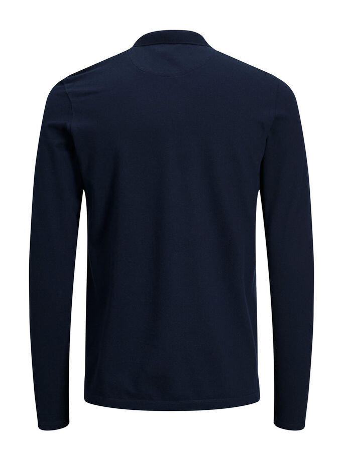 MINIMAL LONG-SLEEVED T-SHIRT, Dark Navy, large