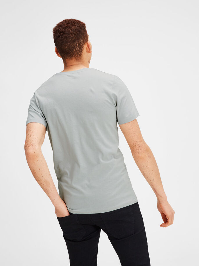 CASUAL T-SHIRT, Mirage Gray, large