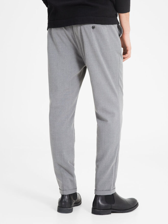 JJIROBERT JJFASH WW GREY TROUSERS, Charcoal Gray, large