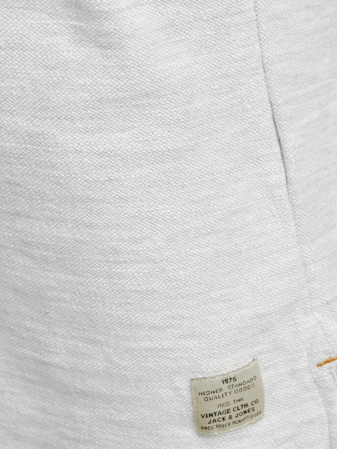 GRAND-PÈRE CHINÉ T-SHIRT À MANCHES LONGUES, White Melange, large