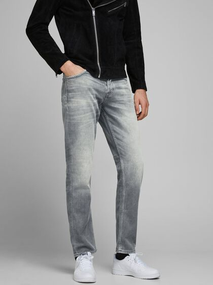 TIM LEON GE 067 INDIGO KNIT JEANS À COUPE SLIM/STRAIGHT