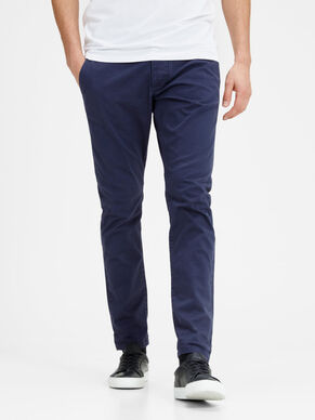 MARCO ENZO NAVY SLIM FIT CHINOT