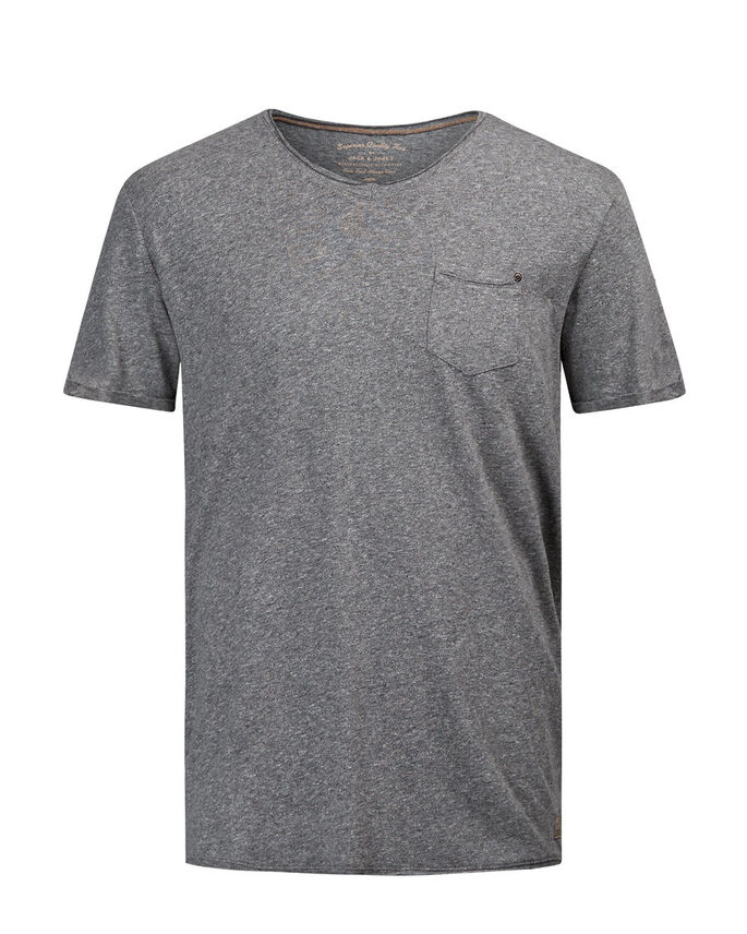 CHINÉ T-SHIRT, Dark Grey Melange, large