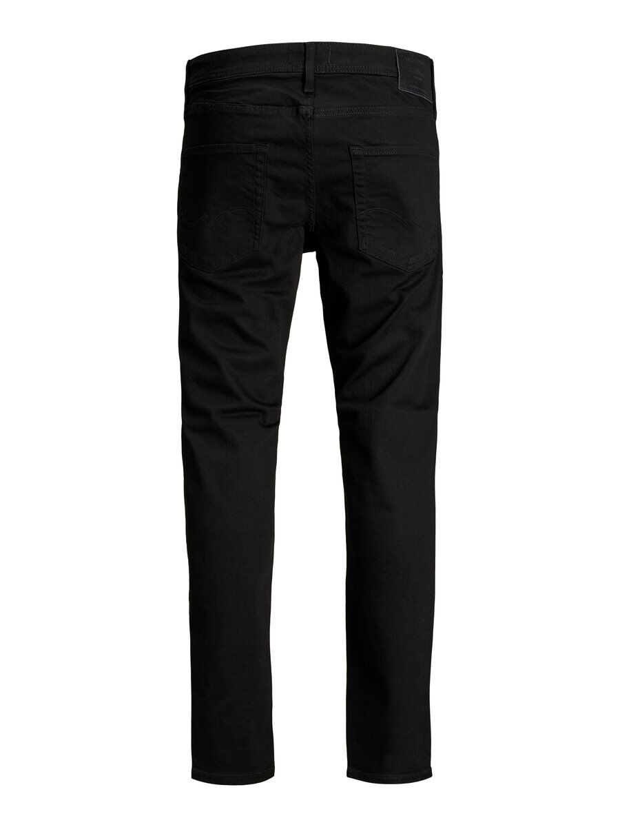 JACK /& Jones Da Uomo Nuovo Chris Colore Nero Jeans Loose Fit Chino Pantaloni da 30 a 38