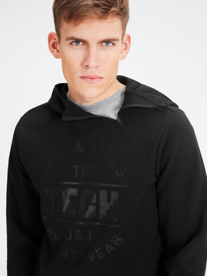 SPORT SWEAT À CAPUCHE, Black, large