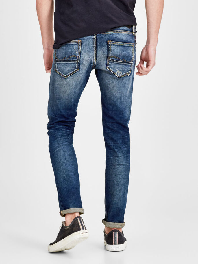 GLENN FOX BL 683 JEAN SLIM, Blue Denim, large