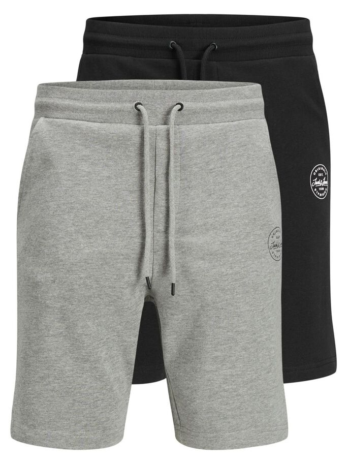 2-PACK SWEAT SHORTS, Black, large