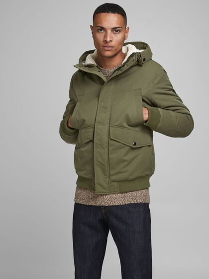 TEDDY-LINED HOOD JACKET
